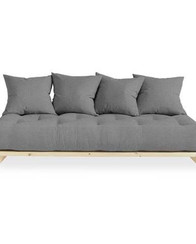 Pohovka so sivým poťahom Karup Design Senza Natural/Granite Grey