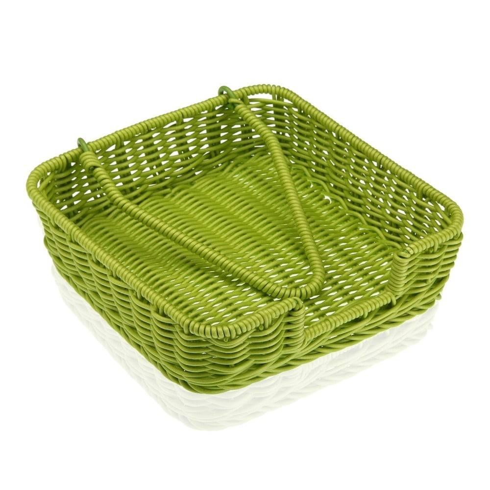 Versa Zelený košík na papierové obrúsky Versa Wonda, 20 × 20 cm