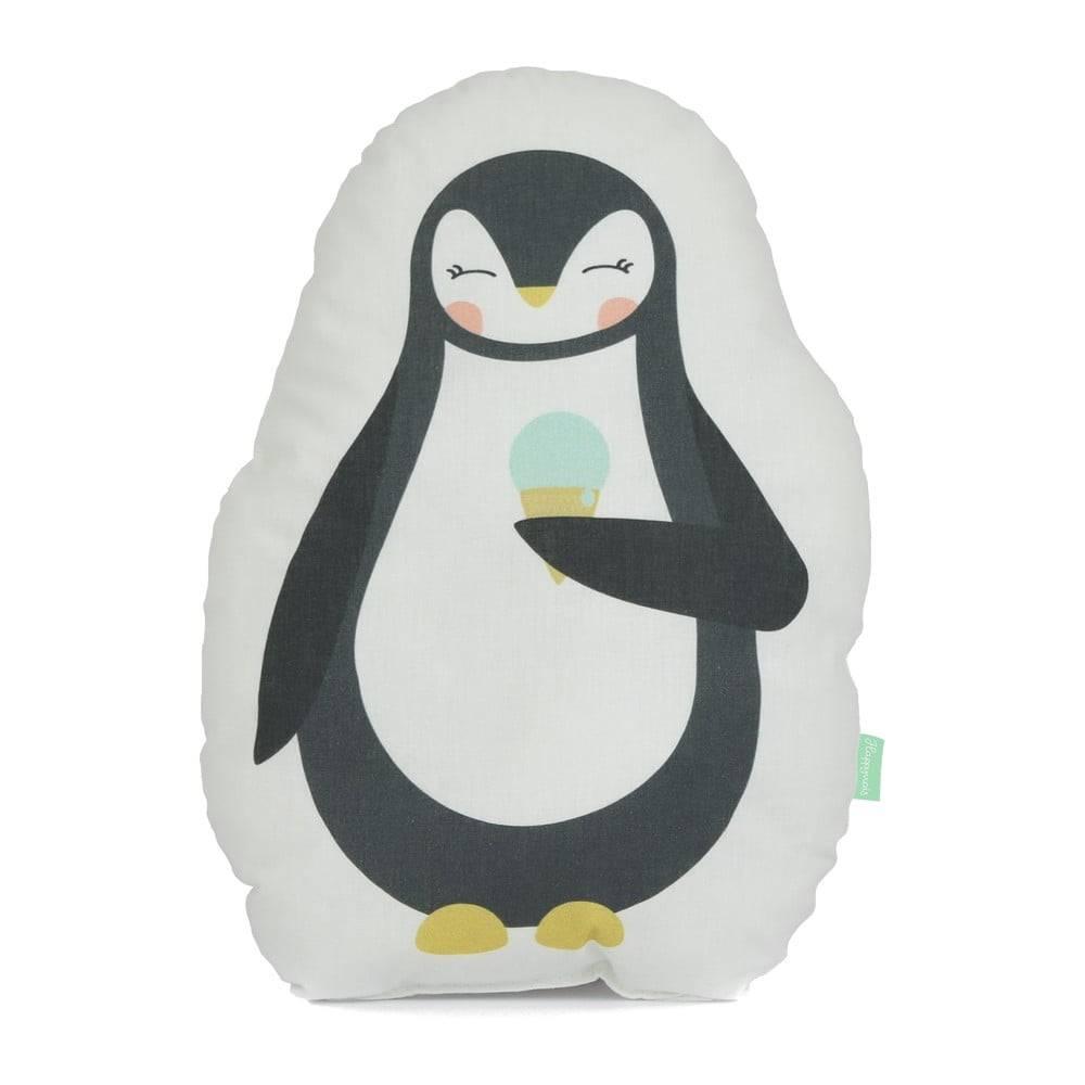 Happynois Vankúšik z čistej bavlny Happynois Penguin, 40×30 cm
